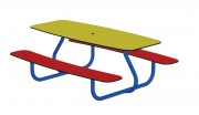 Table jardin enfant - Dimensions (L x h x p) : 1500 x 560 x1200