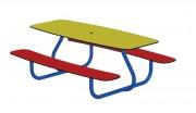 Table jardin enfant - Dimensions (L x h x p) : 1500 x 560 x 1200