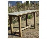 Table mange debout bois - Dimensions (L x l x H) : 2.00 x 0.75 x 1.10 m