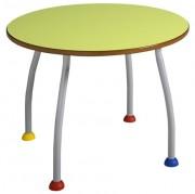 Table maternelle colorée - Plateau médium stratifié - Disponible en tailles 1, 2, 3 et 4