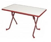 Table métal extérieur café restaurant - Dimensions (cm) : 115 x 70