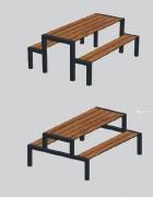 Table pique nique 1800 mm - Piétement acier peint.