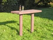 Table pique nique 1m50 plastique recyclé - 1 panneau - L x l x H : 150 x 60 x 180 cm - 1 panneau