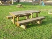 Table Pique-nique 2000 x 1560 mm - Table Pique-nique en bois