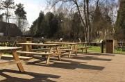 Table pique nique 6 personnes en bois - Dimensions  : 1800 x 740 x 750 mm