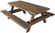 Table pique nique à assise renforcée - Longueur (cm) : 1.6 - 1.8