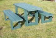Table pique nique avec banquettes indépendantes - Dimensions au sol (cm) : 180 x 175
