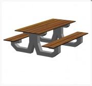 Table pique nique béton architectonique - Structure béton architectonique .