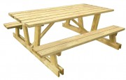 Table pique-nique bois autoclave - Bois autoclave résineux non verni