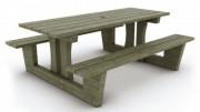 Table pique-nique bois traité - En Pin du Nord traité autoclave classe IV
