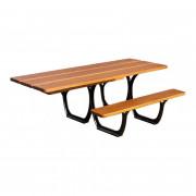 Table pique nique de jardin - Dimensions : L 2000 x l 1320 x h 750 mm