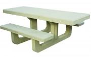 Table pique-nique en béton - 6 à 8 places assises - Hauteur d'assise : 46 cm