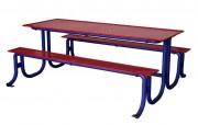 Table pique nique en métal - Longueur (mm) : 2000