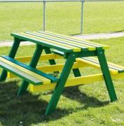Table Pique-Nique en plastique rectangulaire - En plastique 100% recyclé