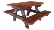 Table pique-nique en plastique recyclé pour enfants - Longeur : 100 cm - Largeur : 97 cm - Hauteur : 50 cm