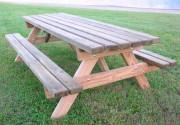 Table pique-nique familiale - Dimensions (Lxlxh) : 1470 x 2400 x 750 mm