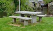 Table pique nique granit 160 x 80 cm