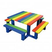 Table pique nique junior - Dimensions (L x l) : 1500 x 1500 mm / 1630 x 1630 mm