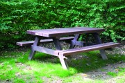 Table pique-nique Monobloc - Table en plastique recyclé