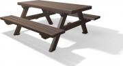Table pique nique plastique recyclé 1m80 - L x l x H : 180 x 75 x 76 cm - 1 panneau
