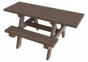 Table pique-nique PMR en plastique recyclé - Dimensions (cm) : 180 x 136