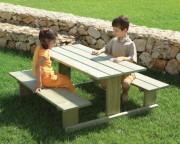 Table pique-nique pour enfants 120 x 126 cm - Dimensions (L x l x H) cm : 120 x 126 x 56