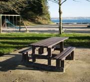 Table pique nique pour parc - Longueur : 1500 ou 2000 mm - Versions : Standard ou PMR