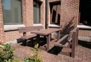 Table pique-nique pour personnes à mobilité réduite - Dimensions au sol (cm) : 180 x 175