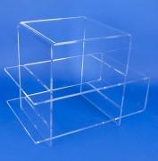 Table plexiglas double U - Montage par emboitement - 2 positions possibles