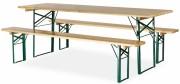 Table pliante de collectivité en bois - Longueur (cm) : 220 - Largeur (cm) : 70 - 80