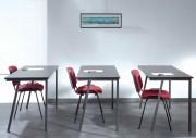 Table pliante de collectivité fixe - Dimensions plateau (cm) : 140 x 60