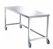 Table pliante de tri du linge - Construction en inox poli 18/10.