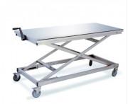 Table pliante inox à hauteur réglable - Construction inox totalement anticorrosion.