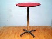 Table pliante mange debout - Diamètre : 80 cm - Hauteur : 110 cm