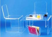 Table pont plexi - Dimensions (L x l) : 75 x 75