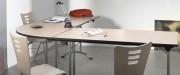 Table pour collectivité pliante et modulable - Plateau 1/2 rond : 140x70 cm ou 160x80 cm / Plateau 1/4 rond : 70 ou 80 cm