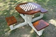 Table pour jeux d'échecs extérieur - 4 Places - Résistance aux intempéries