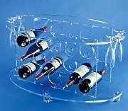 Table range bouteille plexi - 15 places pour bouteilles - Hauteur : 46 cm
