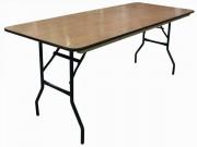 Table rectangulaire 6 places - Dimensions (L x l) : 183x76 cm