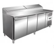 Table réfrigérée à sandwich 3 portes - Dimensions : 2020 x 800 x 1085 mm
