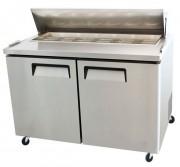 Table réfrigérée de préparation à 2 portes - Température : De   1 /   8 °C - Capacité  : 340 L