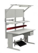 Table réglable pour atelier - Ossature 1500x750 mm