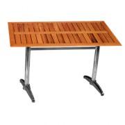 Table restaurant pour terrasse - Plateau en bois teck