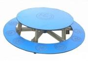Table ronde d'extérieur avec banc - Assise 30 cm