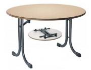 Table ronde empilable de collectivité - Diamètre (cm) : 150
