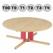 Table ronde en bois - Pour crèche