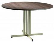 Table ronde modulable - Diamètre  : 120 cm - Plateau stratifié type M , L o S