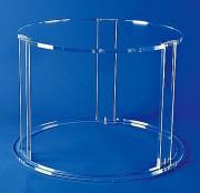 Table ronde plexi 3 pieds - Plexiglas d'épaisseur 1.5 cm - Hauteur : 45 cm