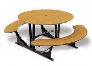 Table ronde stratifiée 1765 x 1 560 mm - Encombrement (mm) : 1765 x 1 560