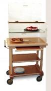 Table roulante desserte avec étagère - Dimensions (L x I x h) : 825 x 525 x 1220 mm